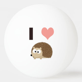 I heart Hedgehogs Ping-Pong Ball