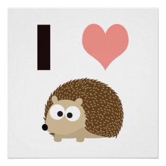 I heart Hedgehogs Poster
