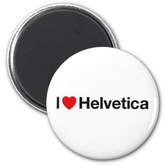 I heart Helvetica 2 Inch Round Magnet