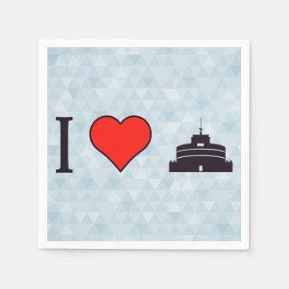 I Heart Heritage Sites Napkin