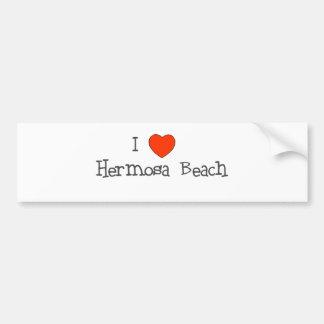 I Heart Hermosa Beach Bumper Sticker