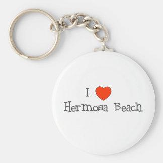 I Heart Hermosa Beach Keychain
