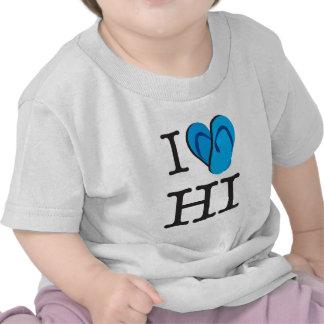 I Heart HI Hawaii Flip Flops Tshirts