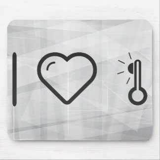 I Heart High Temperatures Mouse Pad