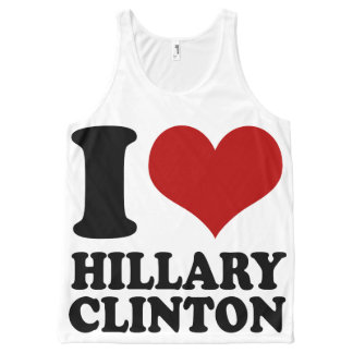 I Heart Hillary Clinton All-Over Print Tank Top