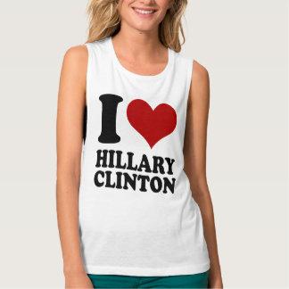 I heart Hillary Clinton Flowy Muscle Tank Top