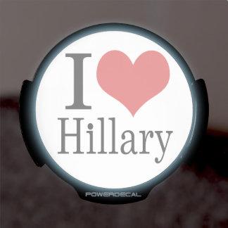 I Heart Hillary LED Window Decal