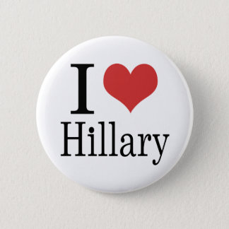 I Heart Hillary Pinback Button