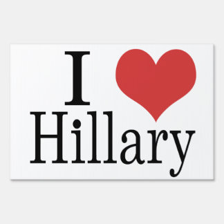 I Heart Hillary Yard Sign