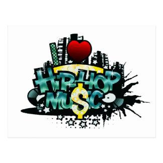 I Heart Hip Hop Music Postcard