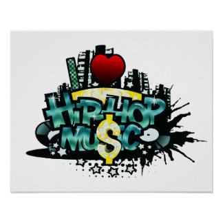 I Heart Hip Hop Music Poster