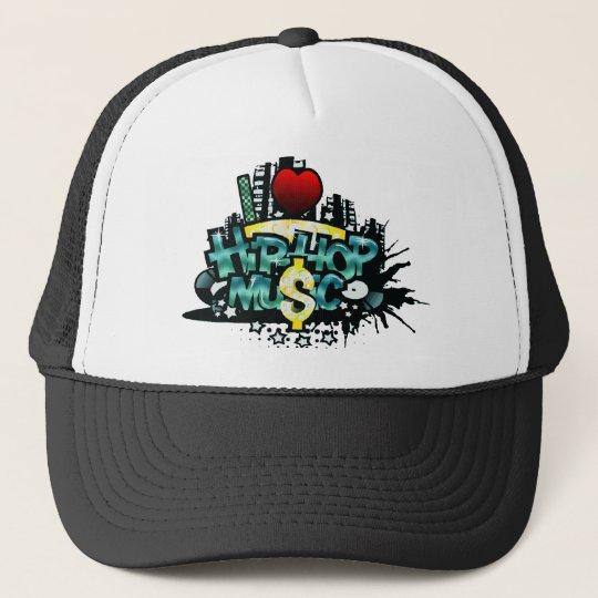 I Heart Hip Hop Music Trucker Hat
