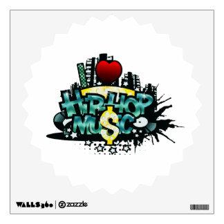 I Heart Hip Hop Music Wall Sticker