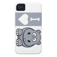I Heart Hippos Phone Case at Zazzle