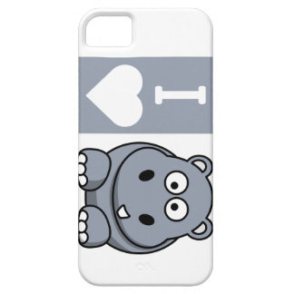 I Heart Hippos Phone Case iPhone 5 Covers