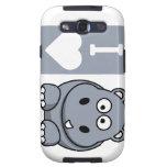 I Heart Hippos Samsung Galaxy S III Phone Case Samsung Galaxy S3 Cases