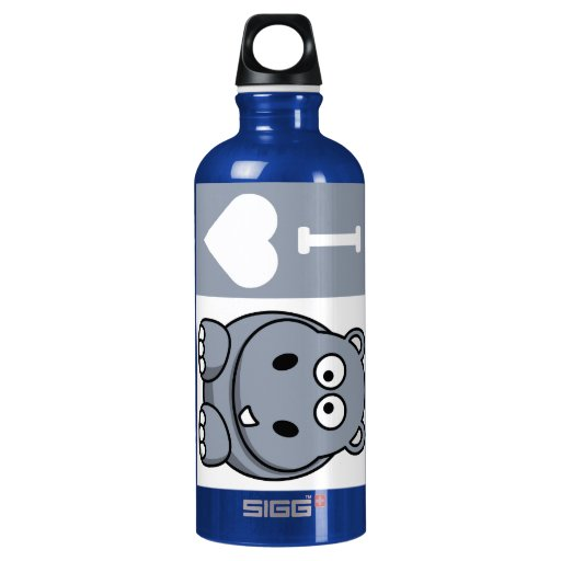 I Heart Hippos SIGG Traveler 0.6L Water Bottle