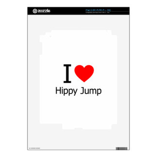 I Heart Hippy Jump Skins For The iPad 2