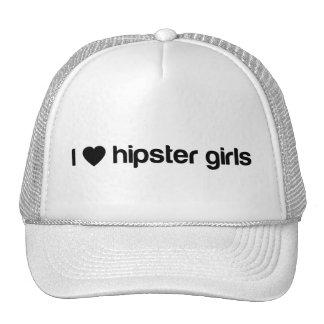 I (heart) hipster girls trucker hat