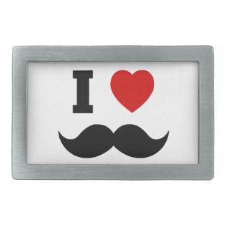 I Heart Hipster Mustache Belt Buckle