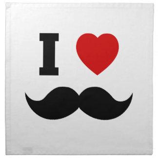I Heart Hipster Mustache Cloth Napkin