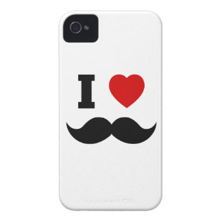 I Heart Hipster Mustache iPhone 4 Case-Mate Case