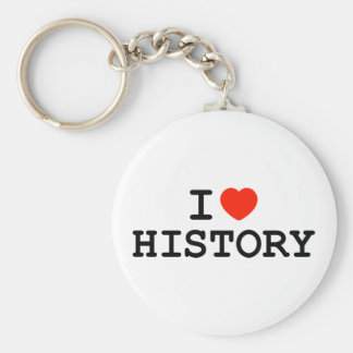 I Heart History Basic Round Button Keychain