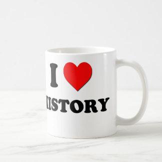 I Heart History Classic White Coffee Mug