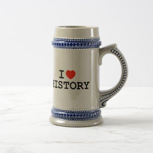 I Heart History Mugs