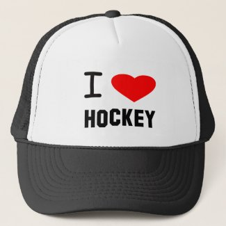 I Heart Hockey Trucker Hat