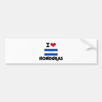 I HEART HONDURAS BUMPER STICKERS