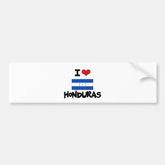 I HEART HONDURAS BUMPER STICKER