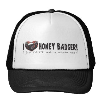 I Heart Honey Badger Mesh Hats