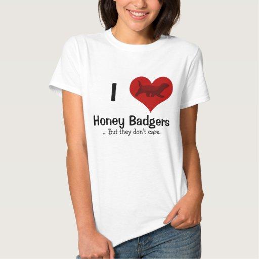 I Heart Honey Badgers Tee Shirts