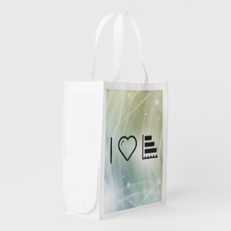 I Heart Horizontals Reusable Grocery Bags