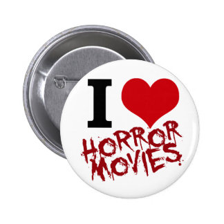 I Heart Horror Movies 2 Inch Round Button