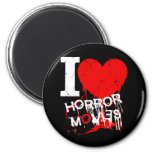 I HEART HORROR MOVIES 2 INCH ROUND MAGNET