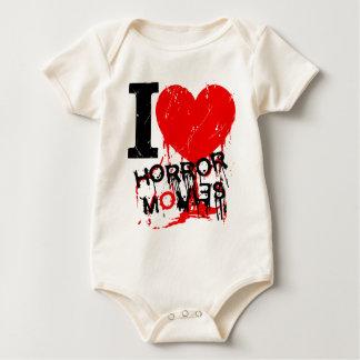 I HEART HORROR MOVIES BABY BODYSUIT