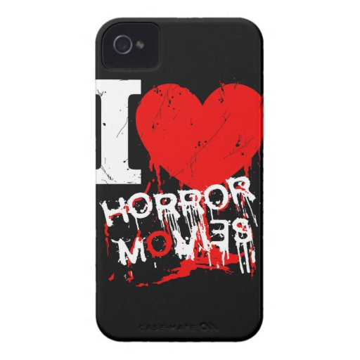 I HEART HORROR MOVIES iPhone 4 CASES