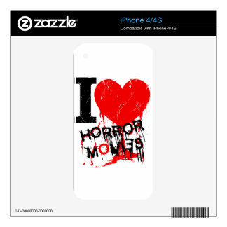 I HEART HORROR MOVIES iPhone 4 SKINS