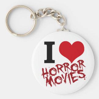 i heart horror movies keychain