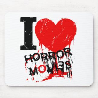 I HEART HORROR MOVIES MOUSE PAD
