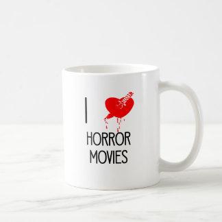 I heart horror movies coffee mug