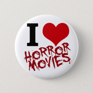 I Heart Horror Movies Pinback Button
