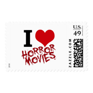 I Heart Horror Movies Postage Stamp