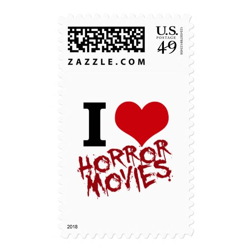 I Heart Horror Movies Postage Stamps