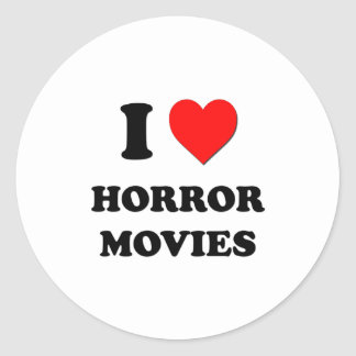 I Heart Horror Movies Classic Round Sticker