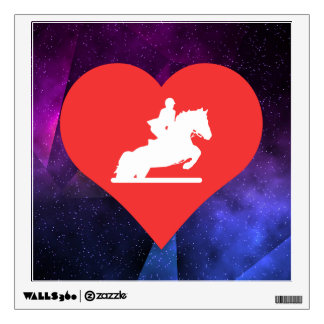 I Heart Horse Racing Icon Wall Decal