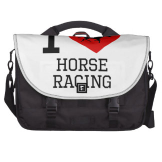 I Heart Horse Racing Laptop Bags