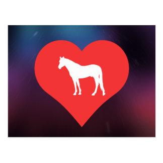 I Heart Horse Supplies Vector Postcard